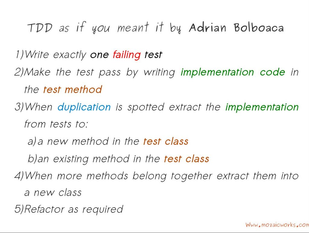 TDD as if you Meant It