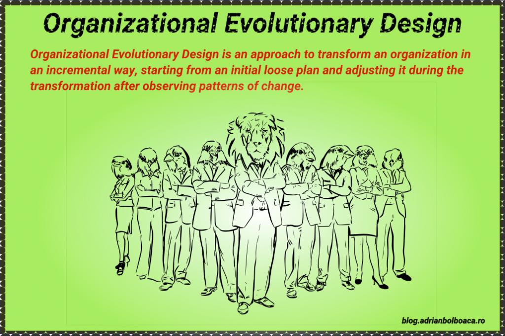 Organizational Evolutionary Design